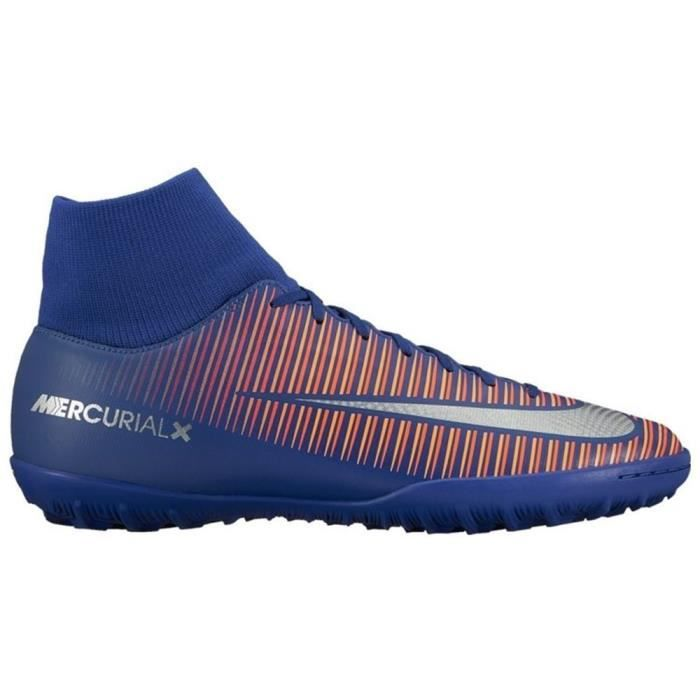 Nike Mercurialx Victory VI Dynamic Fit TF Rose-Violet - Chaussures Football Homme