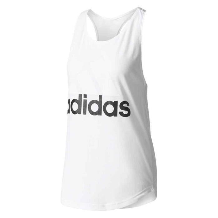 Vêtements femme Débardeurs Adidas Linear Loose - Prix pas cher ... c5f402ba4e3ed