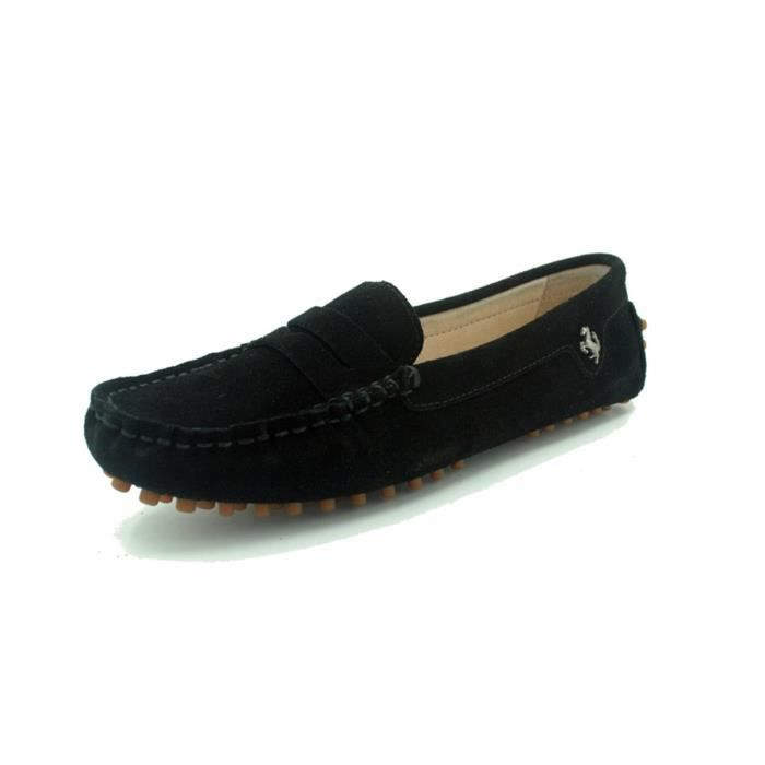 Comfortable Suede Leather Flats Driving Bow Moccasins Slip-on Loafers GAR6D Taille-39