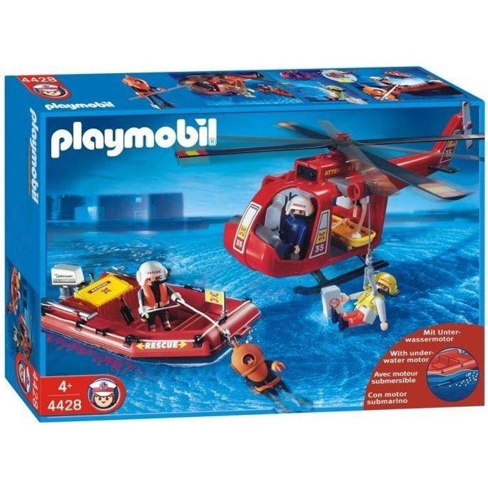 helicoptere playmobil achat vente jeux et jouets pas chers. Black Bedroom Furniture Sets. Home Design Ideas
