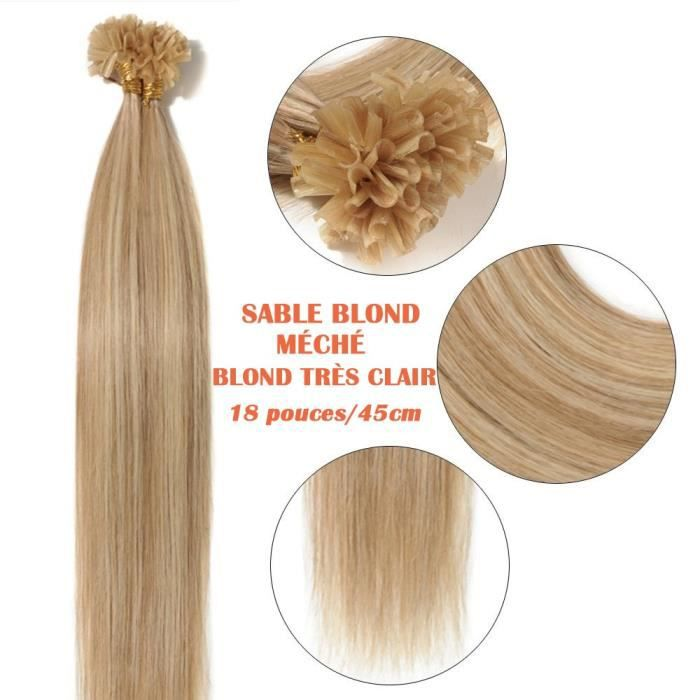 Extension cheveux keratine 1g