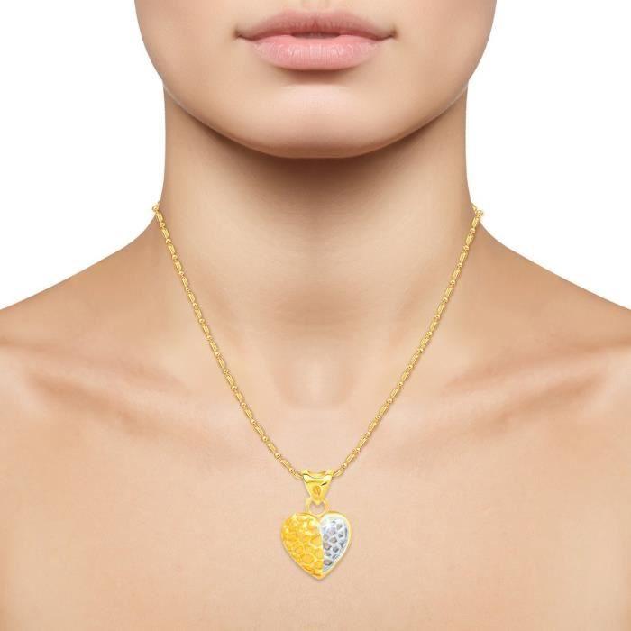 Femmes Vina Bijoux Valentine Enticing Coeur dor et rhodié Pendentif - P1178g [vkp117 G3CLC