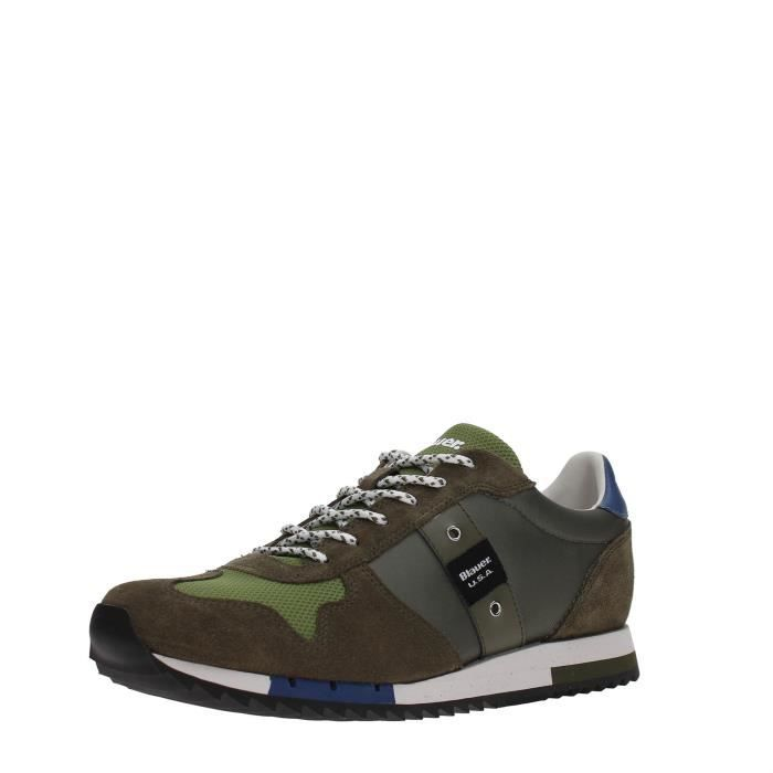 40 USA Blauer MILITARY Blauer Homme GREEN USA Sneakers R6xvHwq