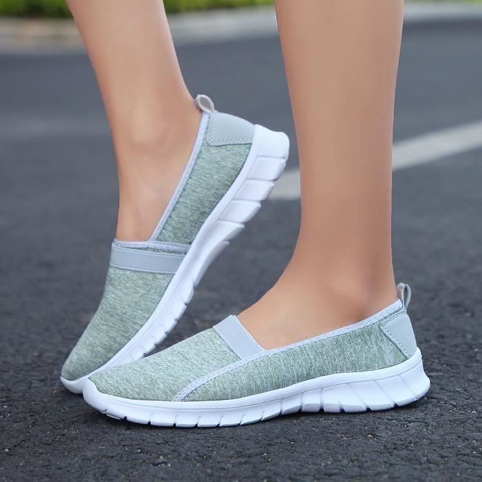 Casual Slip Shoes Lazy Menthe Verte Sole on Fashion Femmes Soft Breathable Sports qYxtOAw