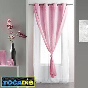 Rideau Rose Et Blanc – Maison Image Idée