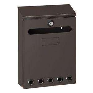 decayeux boite aux lettres missive marron achat vente. Black Bedroom Furniture Sets. Home Design Ideas