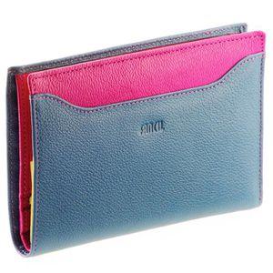 PORTEFEUILLE FANCIL - Portefeuille cuir Bleu Violet N1542 - … eb46e053266