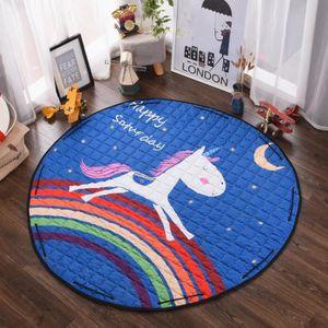 TAPIS DE JEU Tapis chambre d'enfant sac de rangement Carpet de