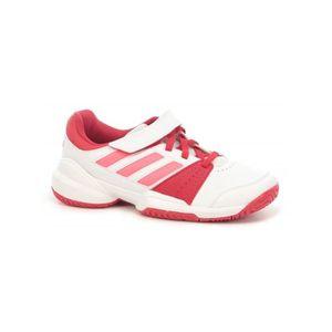 CHAUSSURES DE TENNIS Chaussures ADIDAS Fille KidsCourt EL C Blanc   Rou 7cf25d9fc1e2