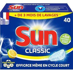 LIQUIDE LAVE-VAISSELLE SUN Classic 40 tablettes citron
