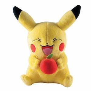 PELUCHE TOMY Pokémons Grande peluche, Pikachu avec Apple 1