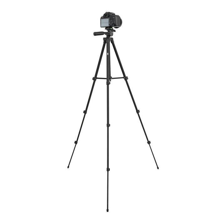 TNB FTDCIS1 Trépied avec tête 3D One Shot -127,5 cm - Noir