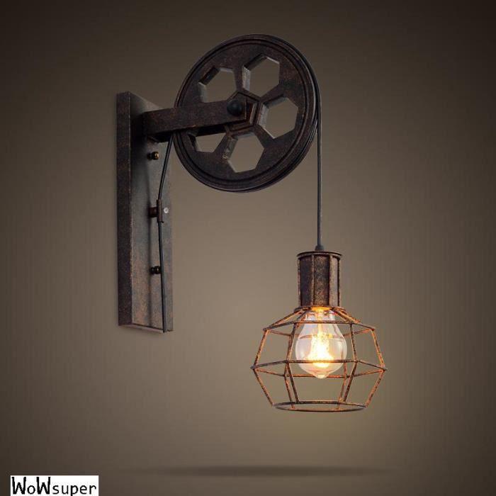LAMPE Murale Vintage Metal Applique Luminaire Industriel Plafonnier