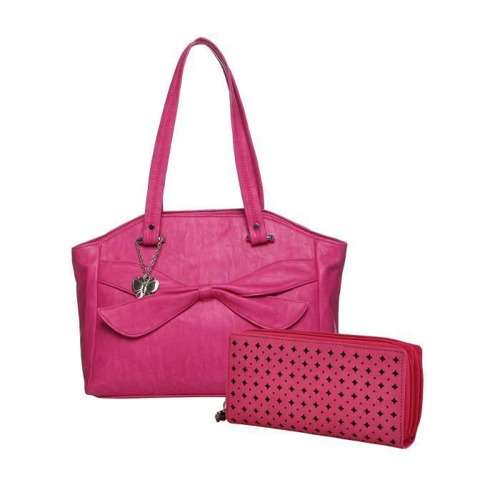 Sac à main de la femme et de Combo Wallet (rose) (BSN Wb0327) (pack de 2) ER8VJ
