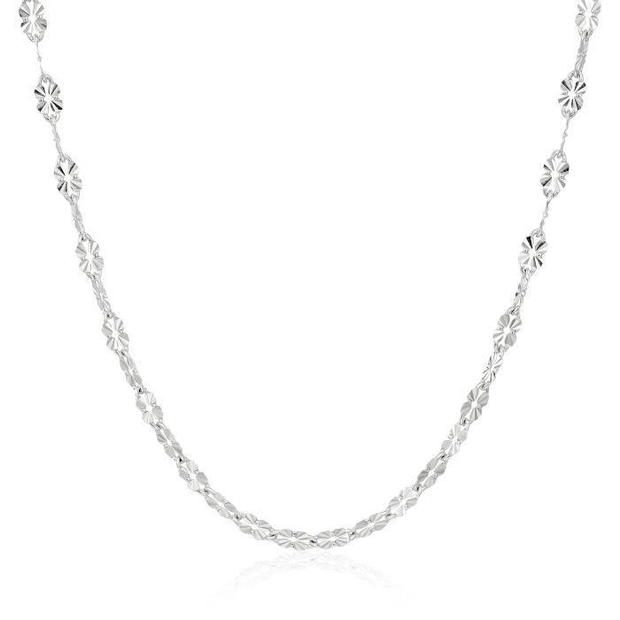 Jewel Panda Collier chaîne en argent sterling italienne Diamond Cut