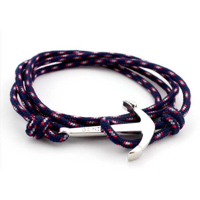 grande vente 3f068 a4e08 Bracelet ancre de marine