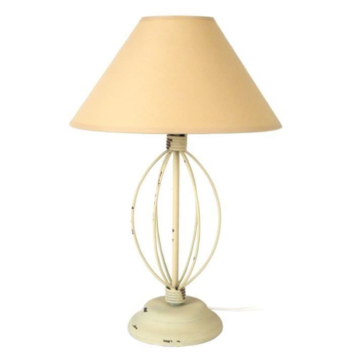 Cérusé Cm Maison Fil A Acier Cap Ferrat Taupe Poser 25x25x42 Lampe 8nwP0kO
