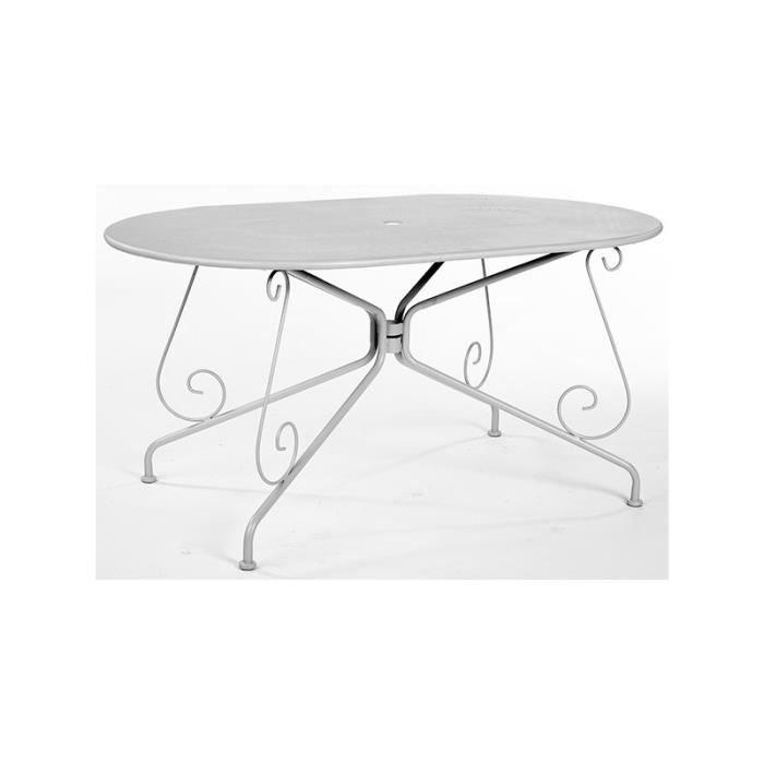 Table ovale tilleul metal 150x90x72cm ref.7042 - Achat / Vente salon ...