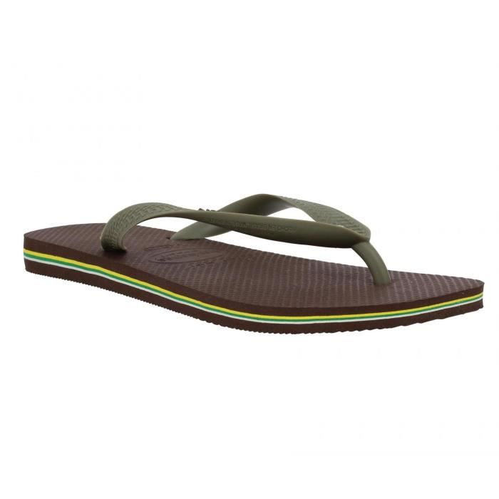 TONG Tongs homme HAVAIANAS Brasil Logo Caoutchouc Homme