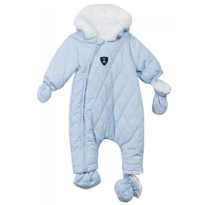 128a75797832c ABSORBA - Combinaison pilote à capuche bleu ciel intérieur fausse fourrure  bébé garçon Absorba
