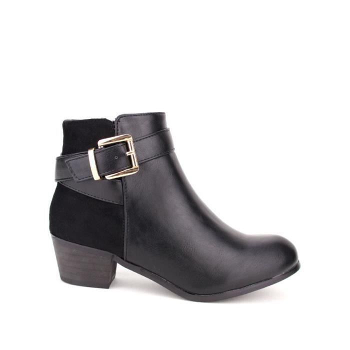 bottine - boots, Bottines Noir Chaussures Femme