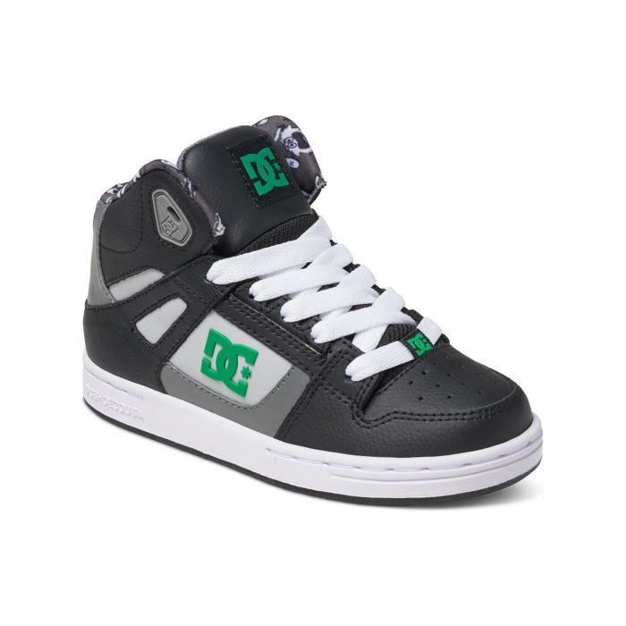Baskets montantes pour enfant DC Rebound Special Edition Noir-Vert-Blanc