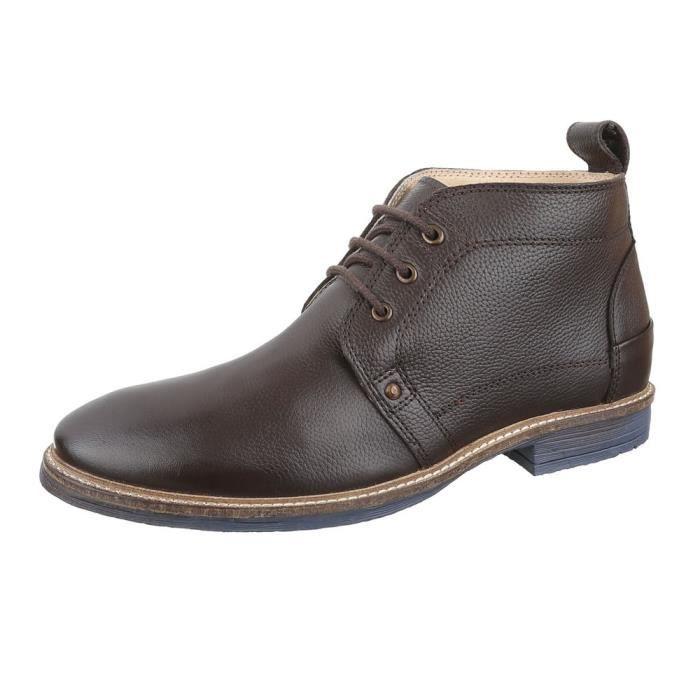 homme botte chaussure cuir lacer ses bottine marron
