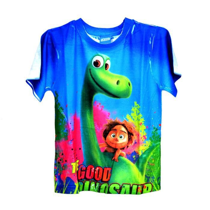 a867f61f0bb70 Shirt Enfant ete 2017 Marque De Luxe T-shirt Nouvelle arrivee couleur unie  bleu Vetements Grande Taille S-XL