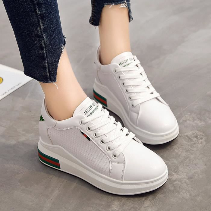 Femme Baskets Basses Chaussure basket Sneakers Augmenter les chaussures Chaussures occasionnelles 5YP9LW