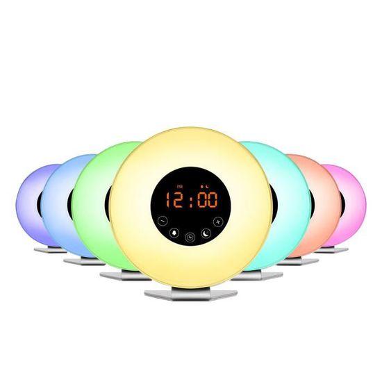 Fonction Vous Radio Avec Réveil Led Blanc De Naturel Lampe Réveillez Multi Alarme PnwO08k