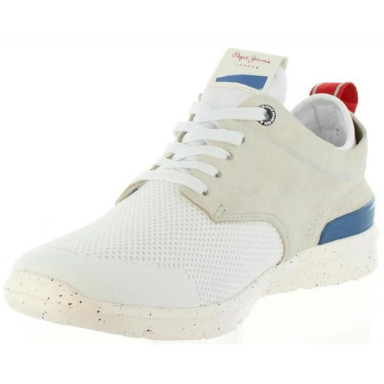 25453b09581 Chaussures pour Homme PEPE JEANS PMS30410 JAYDEN 800 WHITE Blanc Blanc -  Achat   Vente derby - Cdiscount
