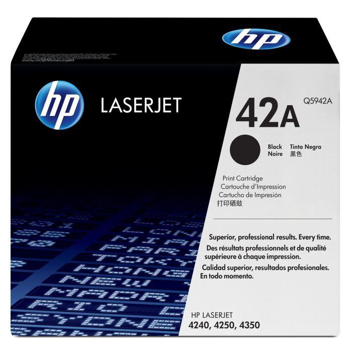 HP Pack de 1 Cartouche de Toner 42A LaserJet Original - Noir - 10 000 pages
