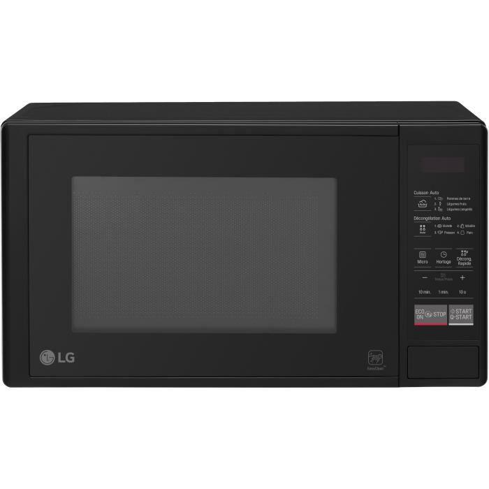 LG MNS242D - Micro-ondes monofonction noir - 20 L - 700 W - Pose libre