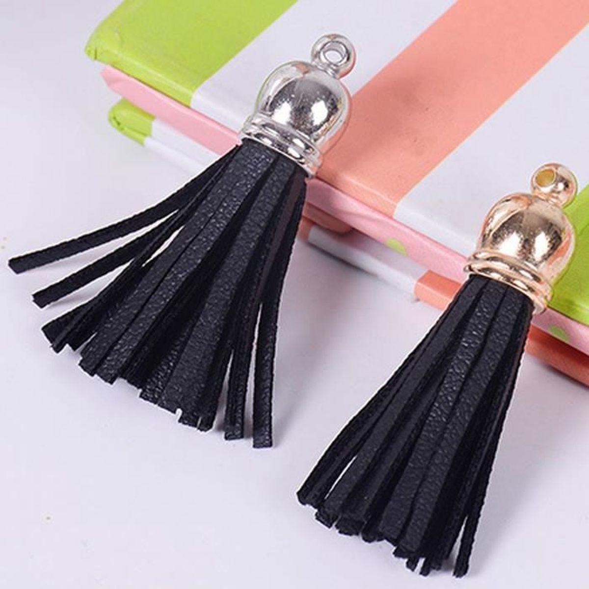 Vococal® 20 pièces PU cuir pendentif gland bricolage boucles d'oreilles bijoux suspendus sac à main Pochette décoration