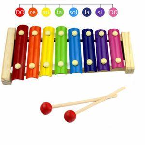 JEU D'APPRENTISSAGE Xylophone en Bois pour Enfants, 8 Note Xylophone M