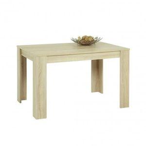 TABLE À MANGER SEULE Table repas DORIS  Chêne clair  L120 x H80 x P76 c