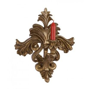 LAMPE A POSER Bougeoir Baroque Casa Padrino Or Antique B.29 x H.