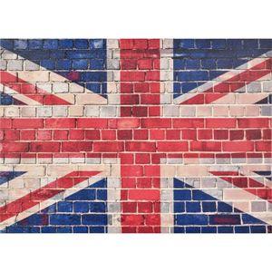 TABLEAU - TOILE Tableau déco toile imprimée drapeau anglais 50x70