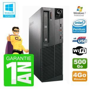 UNITÉ CENTRALE  PC Lenovo M91p 7005 SFF Intel G630 4Go Disque 500G