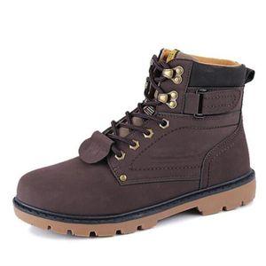 284b78cf107588 Chaussures Homme Cuir Confortable mode Homme chaussure de ville  BWYS-XZ209Marron41 Marron Marron - Achat / Vente bottine - Soldes* dès le  27 juin !
