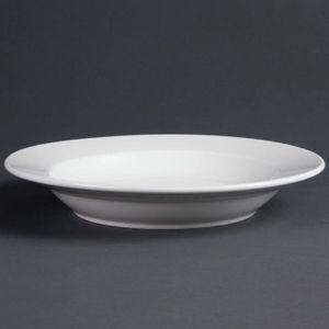 assiette creuse blanche achat vente pas cher. Black Bedroom Furniture Sets. Home Design Ideas