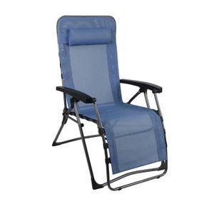 CHAISE DE CAMPING WESTFIELD Fauteuil Relax Lounger Skydriver - Bleu