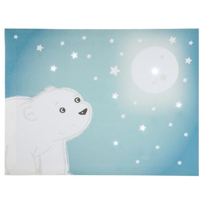 DOMIVA Toile Lumineuse Scintillante Flocon l'ourson - Ciel de lit