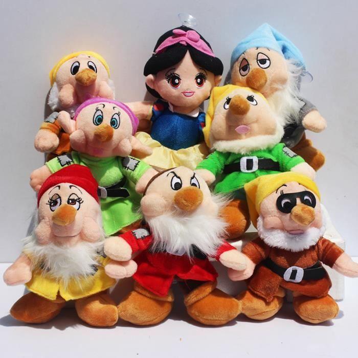8 pcs lot la princesse blanche neige et les sept nains doux en peluche jouets poup e achat - La princesse blanche neige ...