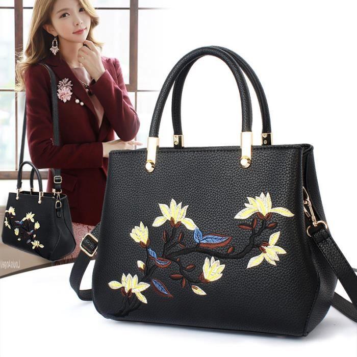 sac à main Femmes Sac brodé Mode et de luxe de Crossbody Mesdames Femmes Sacs Designer Bolsa Feminina-2760