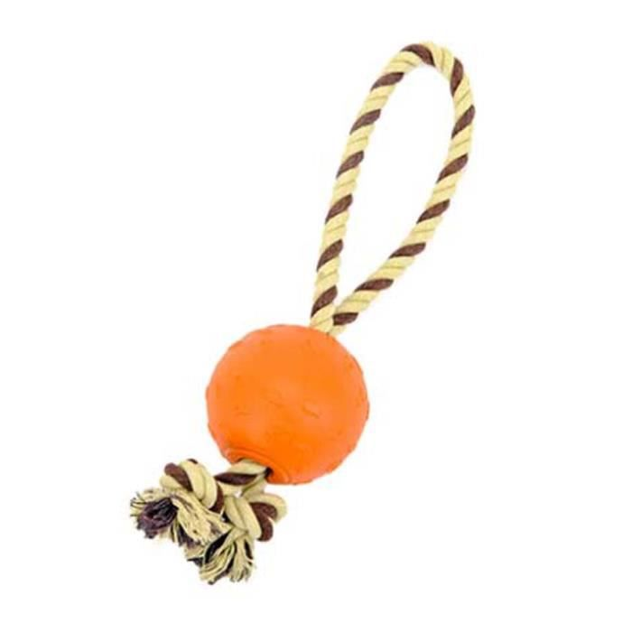 Animaux Interaction Rope Balle Durable Pet Chew Jouets Orange Style Chiens Jouet