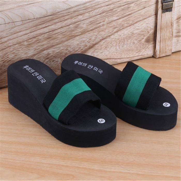 l'été Nouveau Non-Slip Sandales Femme Pantoufles Pour Femmes Plate-Forme Intérieure Tongs Pantoufles Sandales