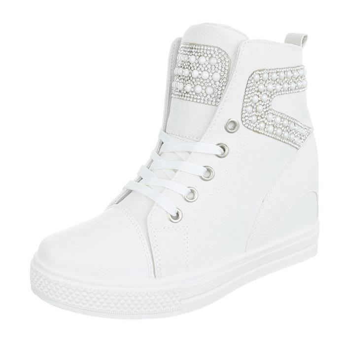 Femme chaussures loisirs chaussuresWedges Sneakers blanc 41