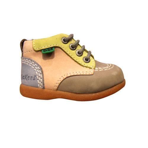 ac0fa5172743d Chaussures enfants KICKERS BABYSTART premiers pas Marron Marron ...