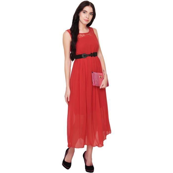 Womens Red Maxi Dress RTT1L Taille-38